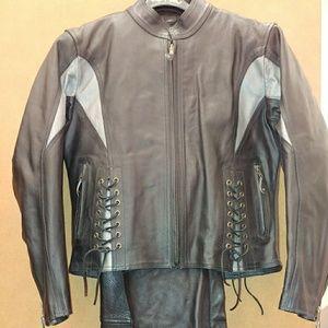 Leather Jacket & Chaps
